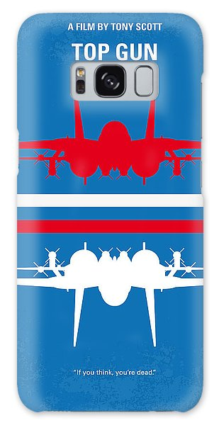 No128 My Top Gun Minimal Movie Poster Galaxy Case