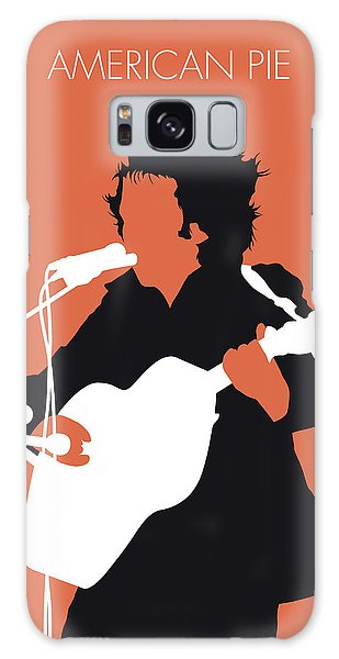 No143 My Don Mclean Minimal Music Poster Galaxy Case