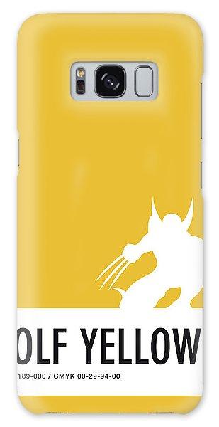 Superhero Galaxy Case - No21 My Minimal Color Code Poster Wolverine by Chungkong Art