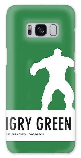 No22 My Minimal Color Code Poster Hulk Galaxy S8 Case