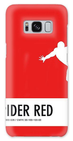 No24 My Minimal Color Code Poster Spiderman Galaxy S8 Case