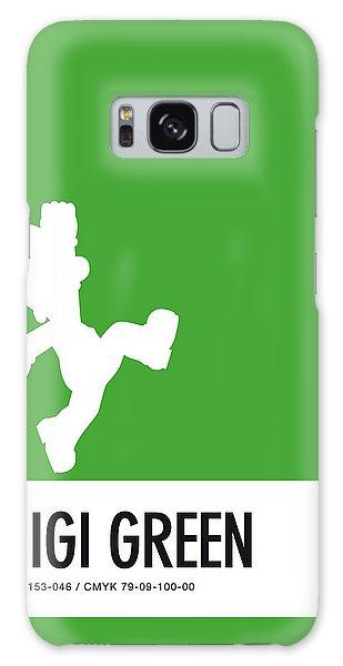 Daisy Galaxy S8 Case - No34 My Minimal Color Code Poster Luigi by Chungkong Art