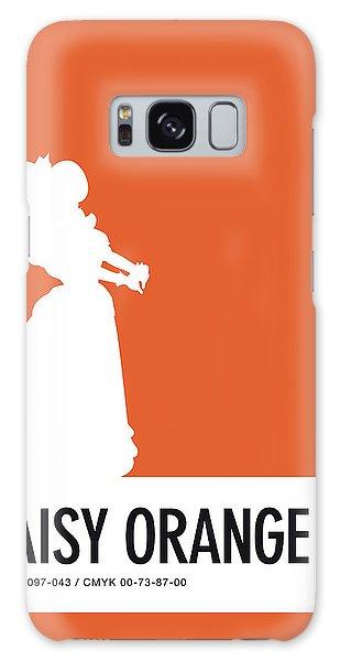 Daisy Galaxy S8 Case - No35 My Minimal Color Code Poster Princess Daisy by Chungkong Art