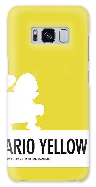 Donkey Galaxy Case - No43 My Minimal Color Code Poster Wario by Chungkong Art