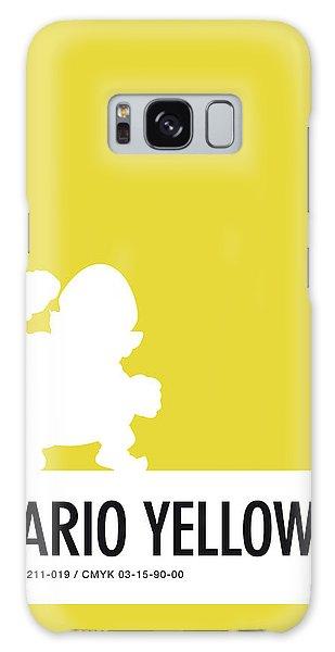 Daisy Galaxy S8 Case - No43 My Minimal Color Code Poster Wario by Chungkong Art