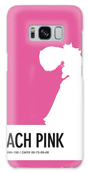 Daisy Galaxy S8 Case - No44 My Minimal Color Code Poster Peach by Chungkong Art