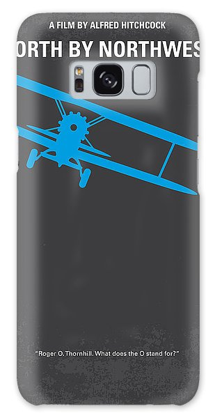 No535 My North By Northwest Minimal Movie Poster Galaxy Case by Chungkong Art