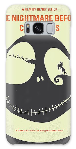 Nightmare Galaxy Case - No712 My The Nightmare Before Christmas Minimal Movie Poster by Chungkong Art