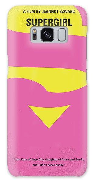 Superhero Galaxy Case - No720 My Supergirl Minimal Movie Poster by Chungkong Art