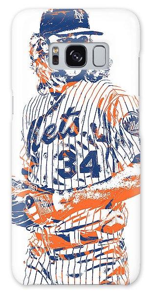 New York Mets Galaxy Case - Noah Syndergaard New York Mets Pixel Art 1 by Joe Hamilton