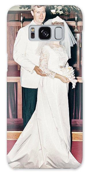 Noble And Vernice Wedding Formal Portrai Galaxy Case