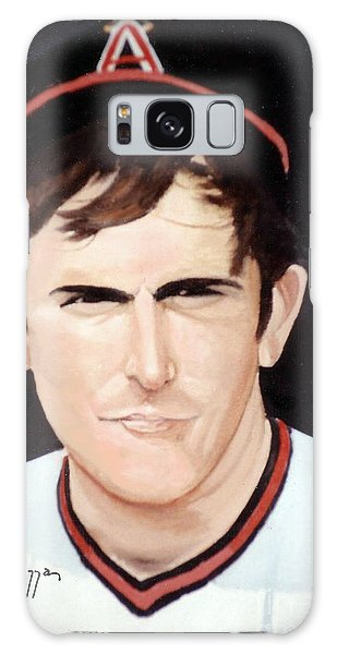 Galaxy Case featuring the painting Nolan Ryan With The Angels by Rosario Piazza