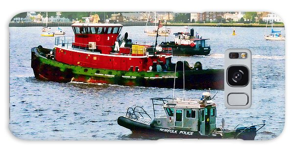 Norfolk Va - Police Boat And Two Tugboats Galaxy Case