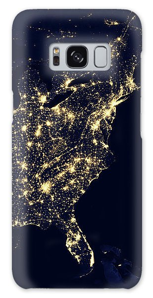 North America At Night Galaxy Case