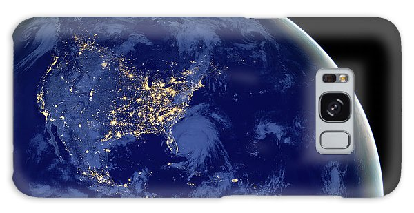 North America From Space Galaxy Case by Delphimages Photo Creations