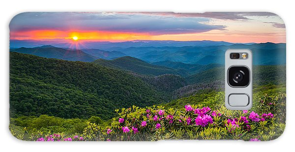 North Carolina Blue Ridge Parkway Landscape Craggy Gardens Nc Galaxy Case