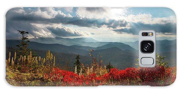 North Carolina Blue Ridge Parkway Scenic Landscape In Autumn Galaxy Case