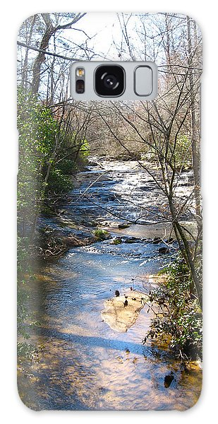 North Carolina Mountain Stream Galaxy Case by Deborah Dendler