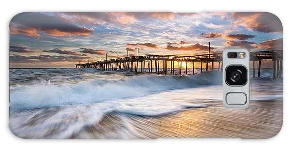 North Carolina Outer Banks Seascape Nags Head Pier Obx Nc Galaxy Case