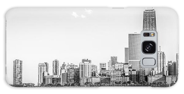 Hancock Building Galaxy S8 Case - North Chicago Skyline Panorama In Black And White by Paul Velgos