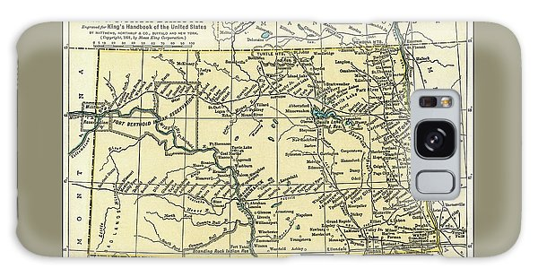 North Dakota Antique Map 1891 Galaxy Case