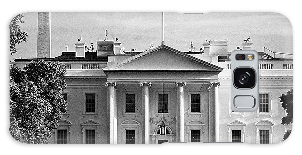 north facade from pennsylvania avenue the white house with washington monument in the background Was Galaxy Case by Joe Fox