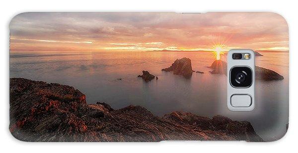 North Puget Sound Sunset Galaxy Case