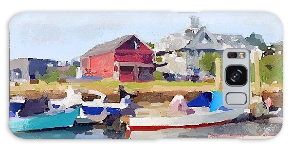 North Shore Art Association At Pirates Lane On Reed's Wharf From Beacon Marine Basin Galaxy Case by Melissa Abbott