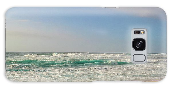 North Shore Waves In The Late Afternoon Sun Galaxy Case