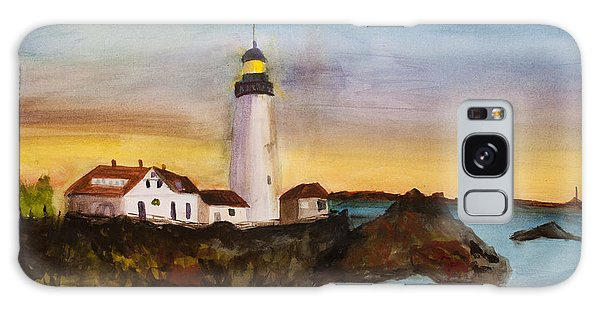 North Truro Light House Cape Cod Galaxy Case by Donna Walsh