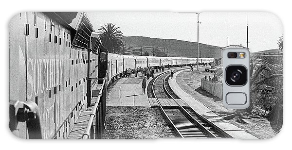 Galaxy Case featuring the photograph Northbound Amtrak Coast Starlight, Early Days, San Luis Obispo, California by Frank DiMarco