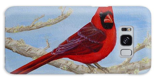 Northern Cardinal 2 Galaxy Case