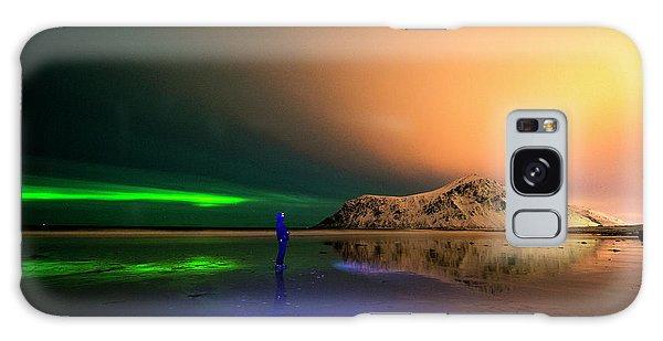 Northern Light In Lofoten, Nordland 4 Galaxy Case