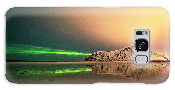 Northern Light In Lofoten Nordland 5 Galaxy Case