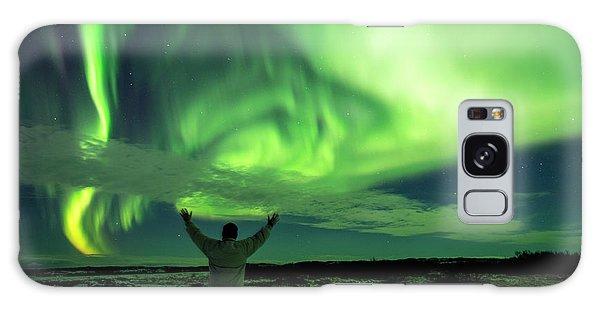 Northern Light In Western Iceland Galaxy Case