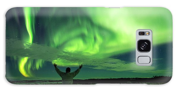 Galaxy Case featuring the photograph Northern Light In Western Iceland by Dubi Roman