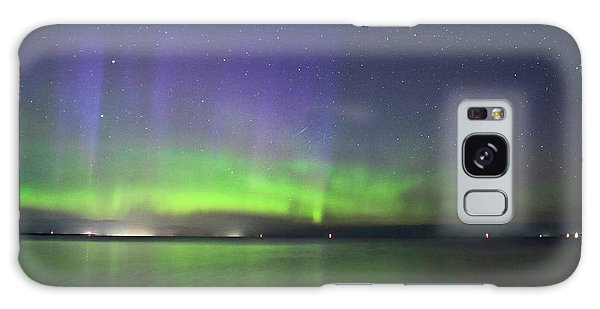 Northern Light With Perseid Meteor Galaxy Case by Charline Xia
