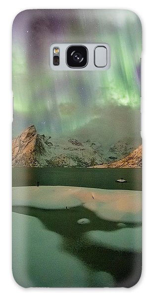 Northern Lights Above Olstinden Galaxy Case by Alex Conu