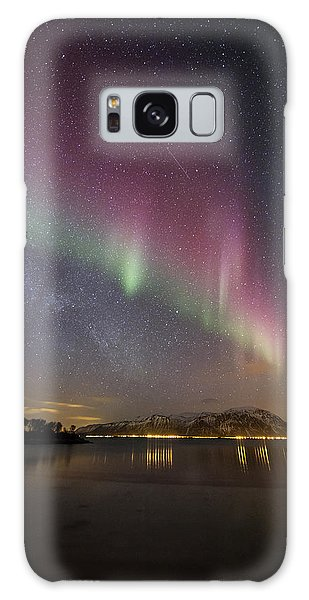 Northern Lights And The Milky Way Galaxy Case