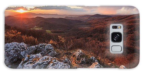 Mountain Sunset Galaxy S8 Case - Northern Territory by Davorin Mance