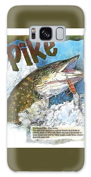 Galaxy Case featuring the painting Northerrn Pike by John Dyess