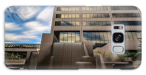 Galaxy Case featuring the photograph Northwestern Mutual Waterfall by Randy Scherkenbach