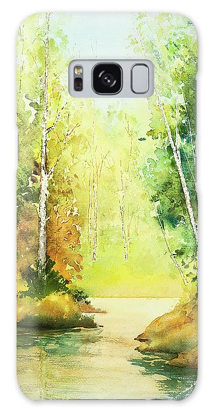 Northwoods Scene Galaxy Case