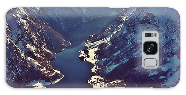 Norway Mountains Galaxy Case by Digital Art Cafe