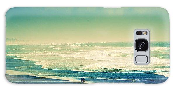 Nostalgic Oceanside Oregon Coast Galaxy Case by Amyn Nasser