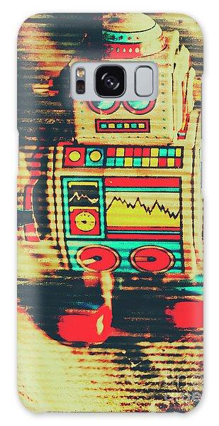 Metal Galaxy Case - Nostalgic Tin Sign Robot by Jorgo Photography - Wall Art Gallery