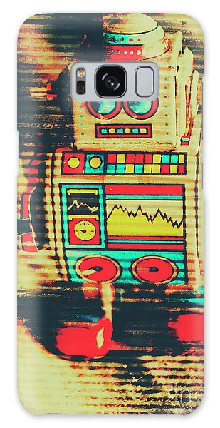 1950s Galaxy Case - Nostalgic Tin Sign Robot by Jorgo Photography - Wall Art Gallery