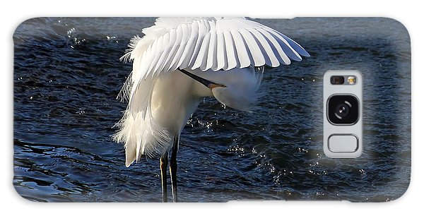 Not Under Here - Birds - Snowy Egret Galaxy Case by HH Photography of Florida