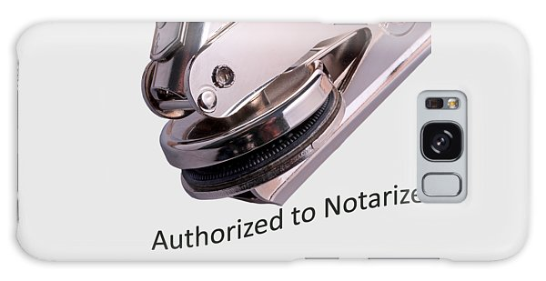 Notary Public Slogan Galaxy Case