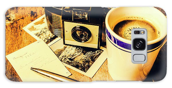 Vintage Camera Galaxy Case - Notes Of Past Recollection by Jorgo Photography - Wall Art Gallery